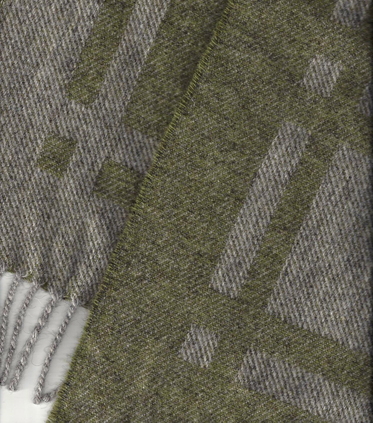 Laura's Loom, Cumbrian Summer Blanket, Moss, wool, British
