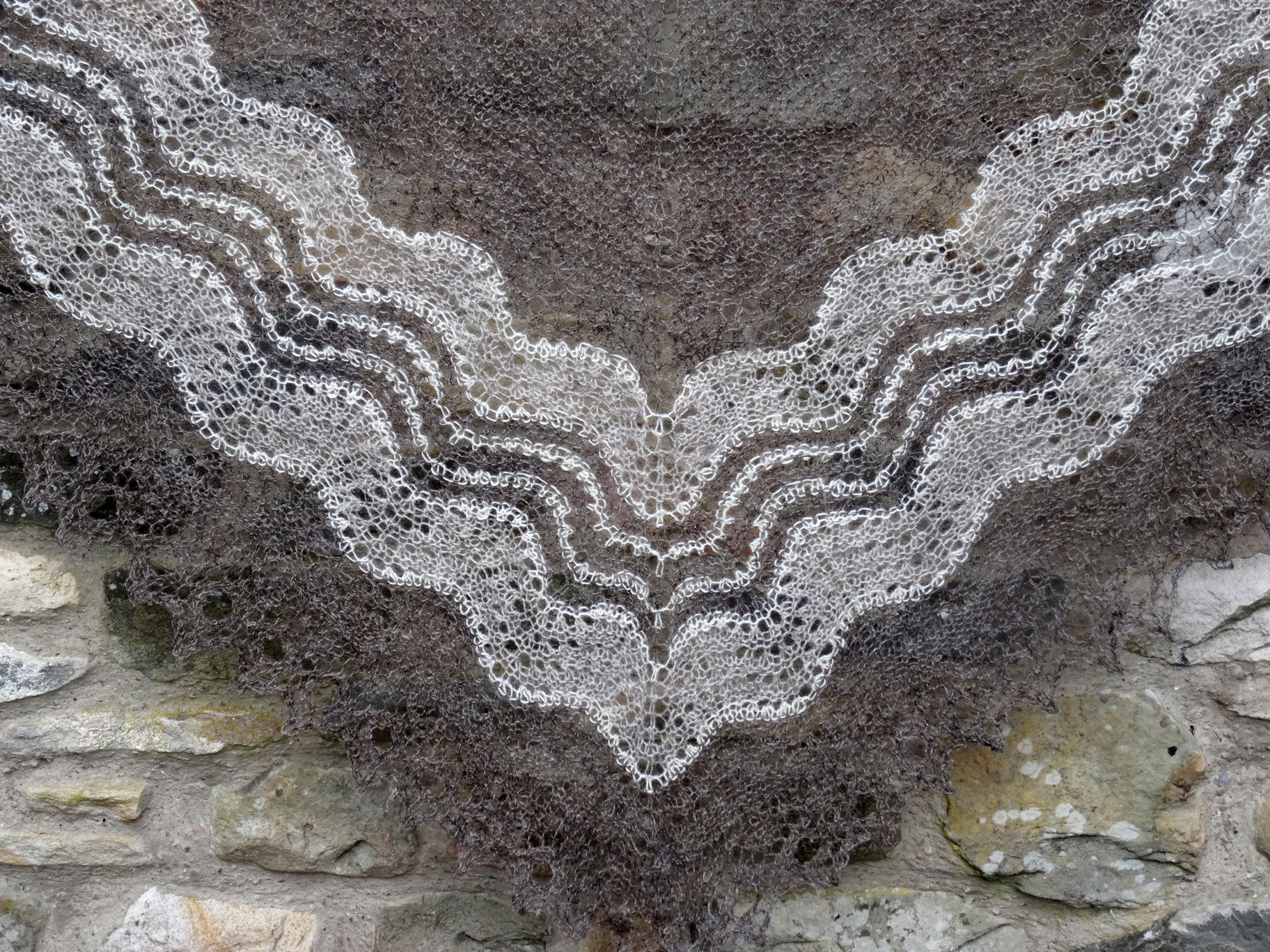 Laura's Loom, Lace shawl, multi, British wool
