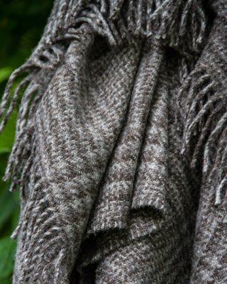 Laura's Loom, Glen Check Knee Blanket,detail