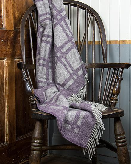 Laura's Loom, Cumbrian Summer Blanket, Damson