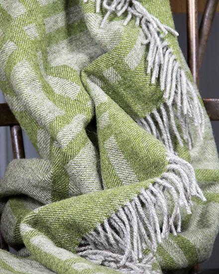 Laura's Loom, Cumbrian Summer Blanket, Grass