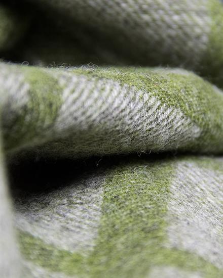 Lauras Loom, Cumbrian Summer Blanket - grass green detail