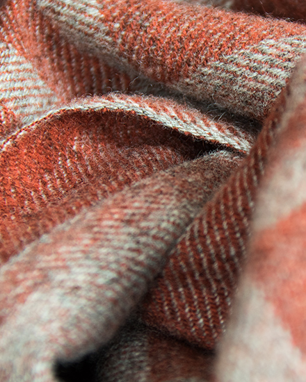 Laura's Loom, Cumbrian Summer Blanket - madder red detail