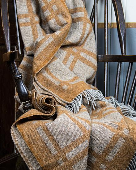 Laura's Loom, Cumbrian Summer Blanket, Rust