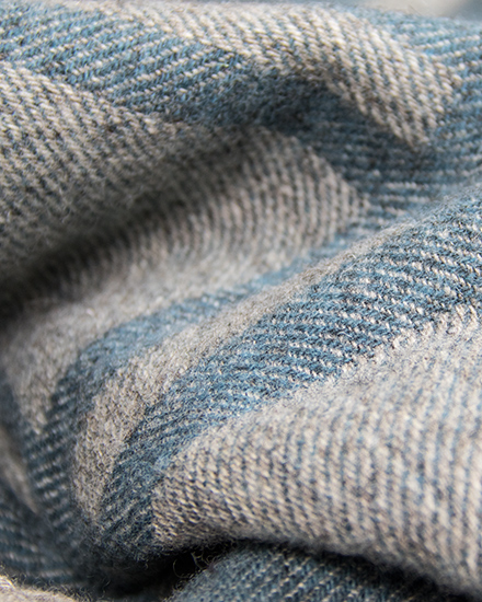 Cumbrian Summer Blanket by Laura's Loom in Sky blue