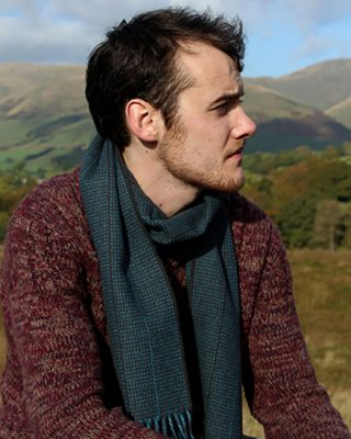 Laura's Loom, Howgill Classic Scarf, Deepest Sky