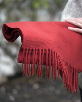 Laura's Loom, Dentdale Red Wool Scarf