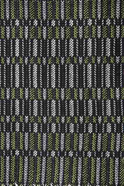 Laura's Loom, handwoven, scarf, silk, Penguin, green