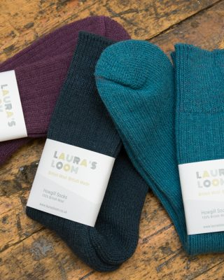 Laura's Loom, Howgill walking socks, british wool