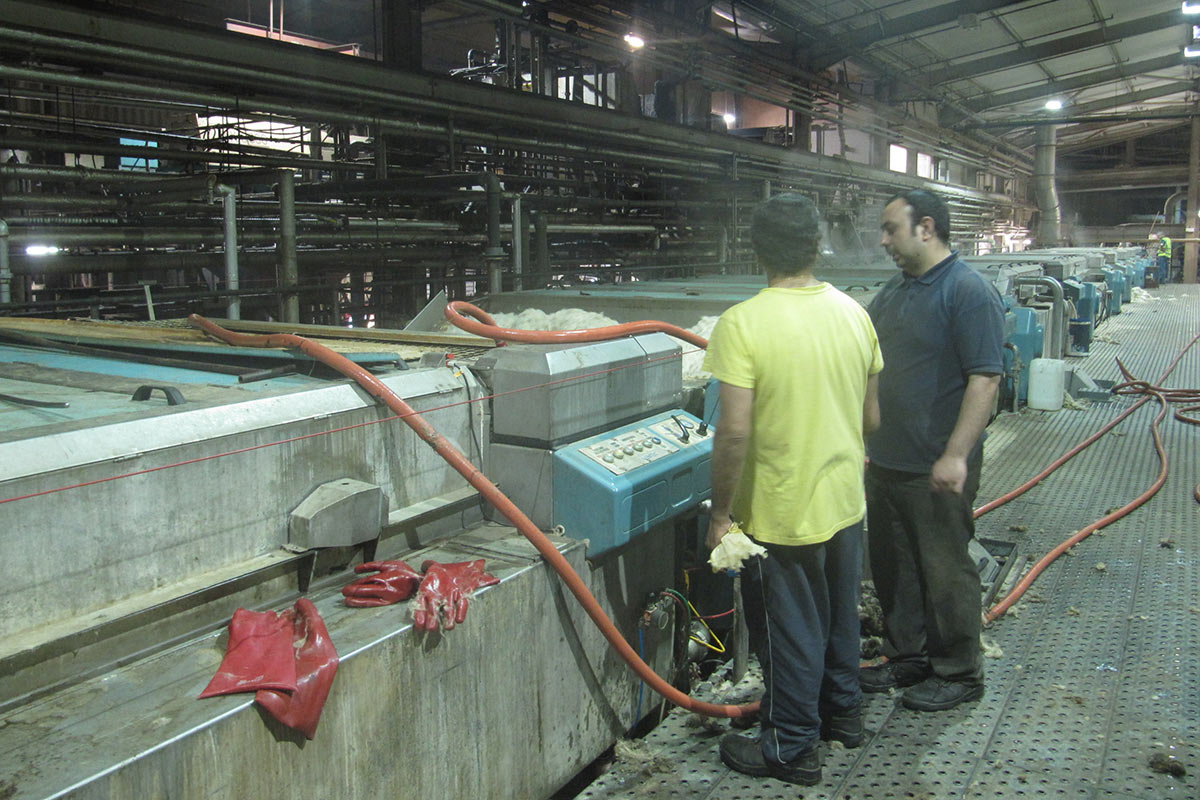 Laura's Loom, Weaving Process, Scouring, Factory