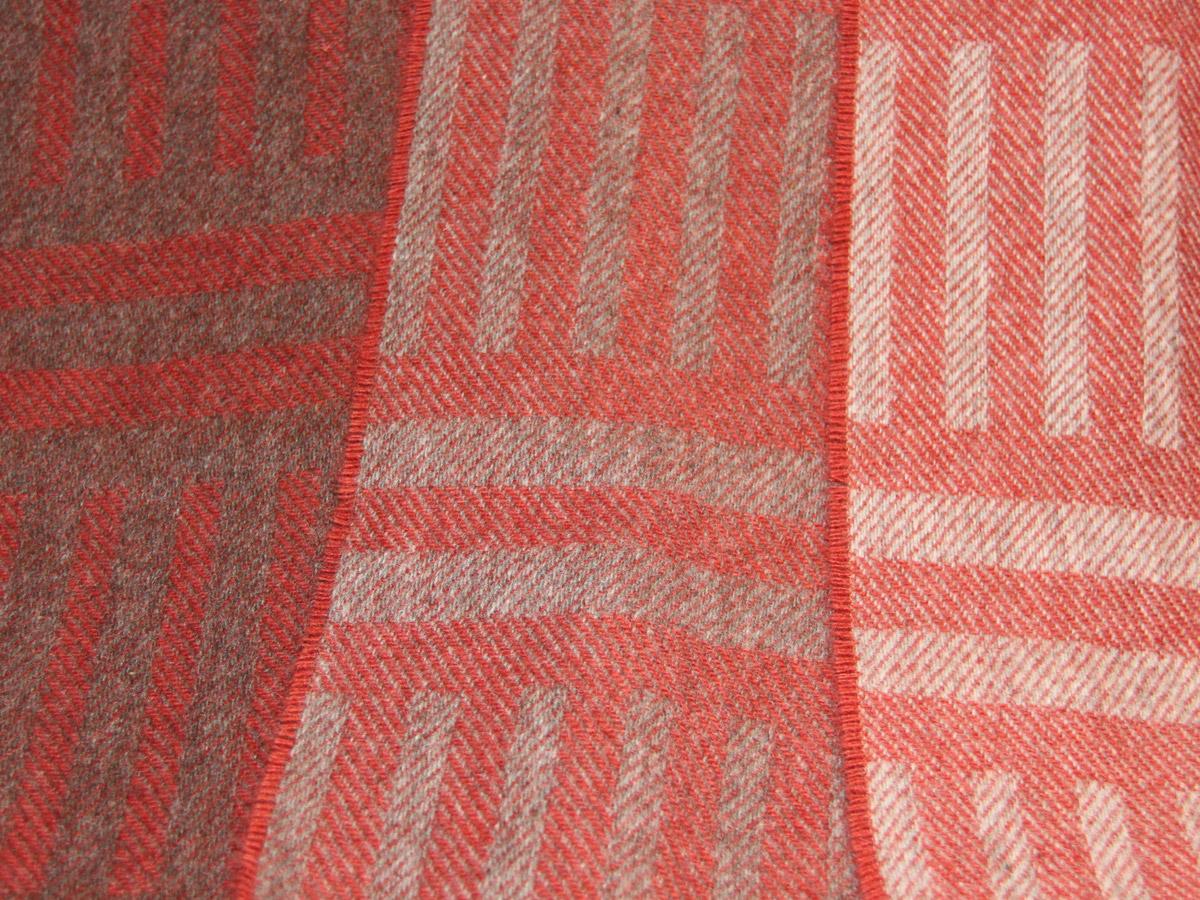 Laura's Loom, Howgill Stripe, wool, scarf, bracken red