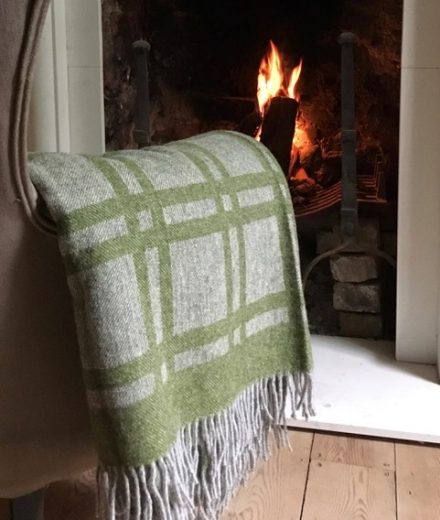 Cumbrian summer blanket by Laura's Loom