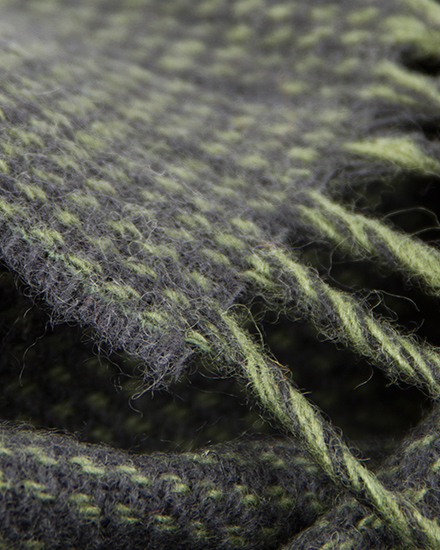 Laura's Loom, Scarves, Howgill Classic, deepest, green