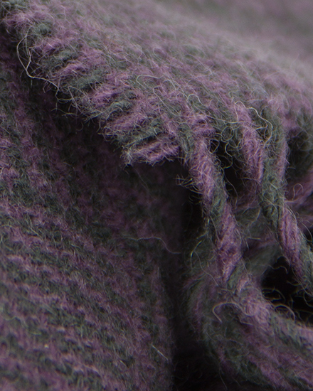 Laura's Loom, Scarves, Howgill Classic, deepest, Clover