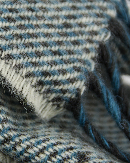 Laura's Loom, Scarves, Howgill Classic, Soft Twill Sky