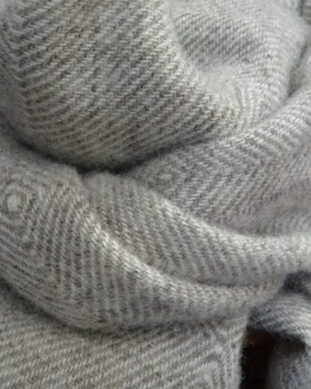 Laura's Loom, Dentdale, Natural Wool Scarf