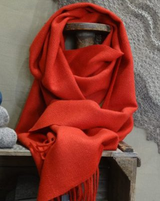 Laura's Loom, Dentdale, Red, Wool Scarf