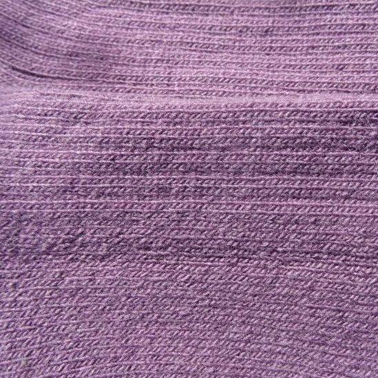 Laura's Loom, Howgill Walking socks, British wool, purple - detail
