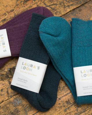 Laura's Loom, Howgill walking socks, british wool
