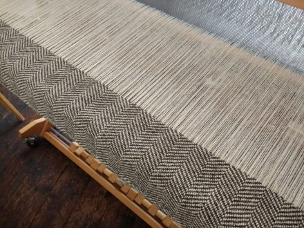 Laura's Loom, handwoven tweed, Ali Sharman, tweed, herringbone, herdwick, cloth, wool