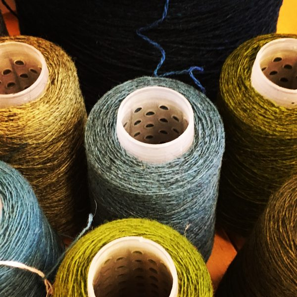 ffb23f6ddde94 I have several different blues and greens in my palette and two different  dyed yarns – Cumbrian Tweed and Bluefaced Leicester. By combining the  different ...