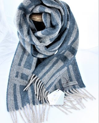 Laura's Loom, Cumbrian Summer Scarf, Tarn Blue