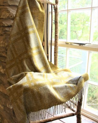 Laura's Loom, Cumbrian Summer, Blanket, 100% British wool