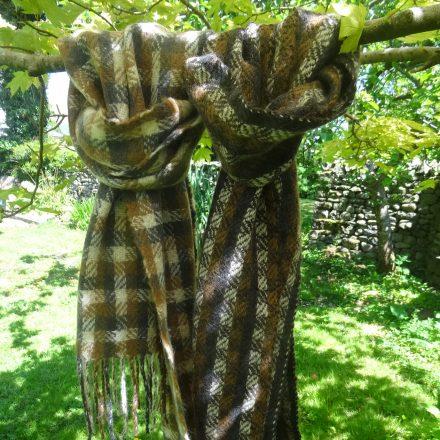 Laura's Loom, Alpaca, Scarf, Handwoven