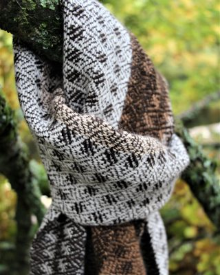 Laura's Loom, handwoven, alpaca, scarf
