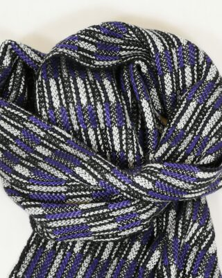 Laura's Loom, Handwoven Silk Scarf, Purple
