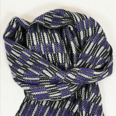 Laura's Loom, Handwoven Silk Scarf, Purple
