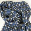 Laura's Loom, Handwoven Silk Scarf, blue