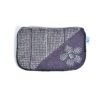 Laura's Loom, zipped pouch, purple with flower
