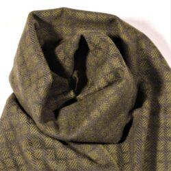 Laura's Loom, Westmorland Scarf, 100% British wool, Dark Pine Green