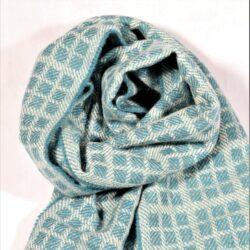 Laura's Loom, Westmorland Scarf, 100% British wool, Light Sky Blue