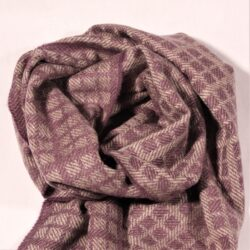 Laura's Loom, Westmorland Scarf, 100% British wool, Medium Clover Purple