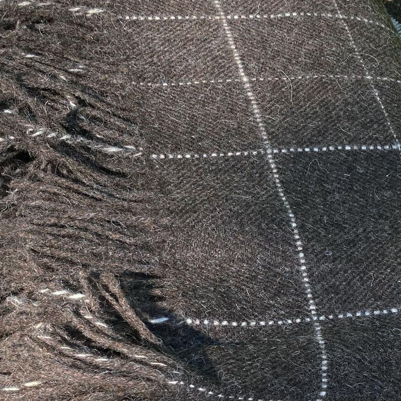 Laura's Loom, Hebridean throw, Dark Nevis